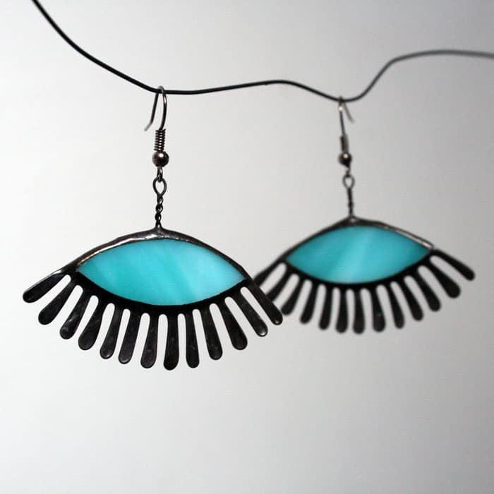 Eyelashes Earrings