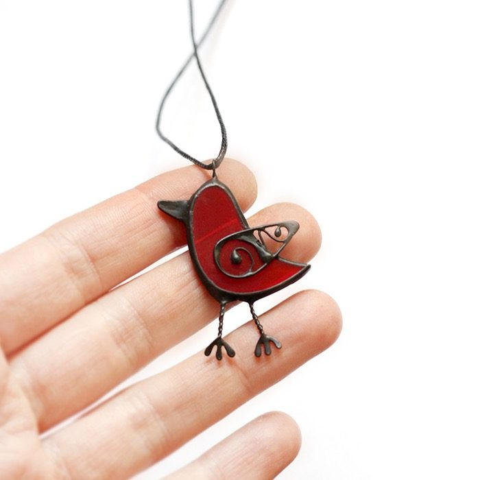 Bird Necklace Pendant