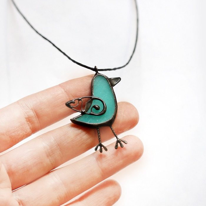 Bird Necklace Pendant