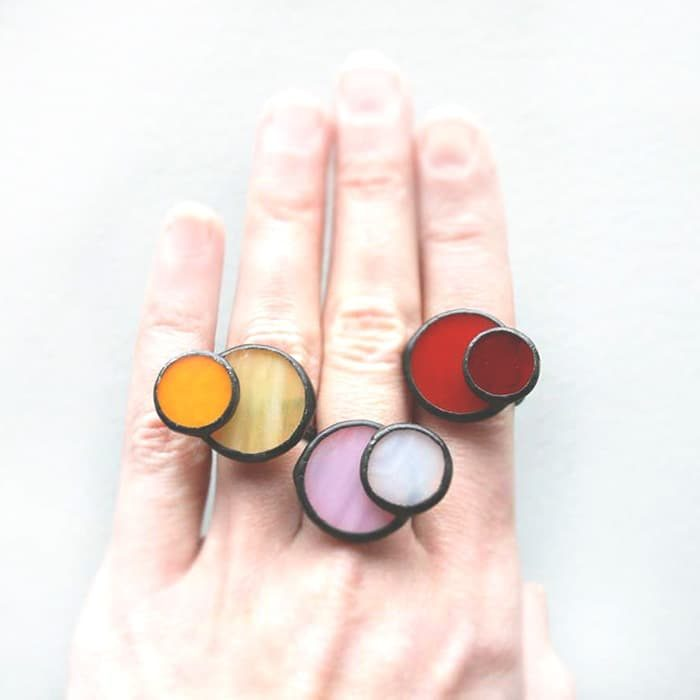 Adjustable Circle Bicolor Ring
