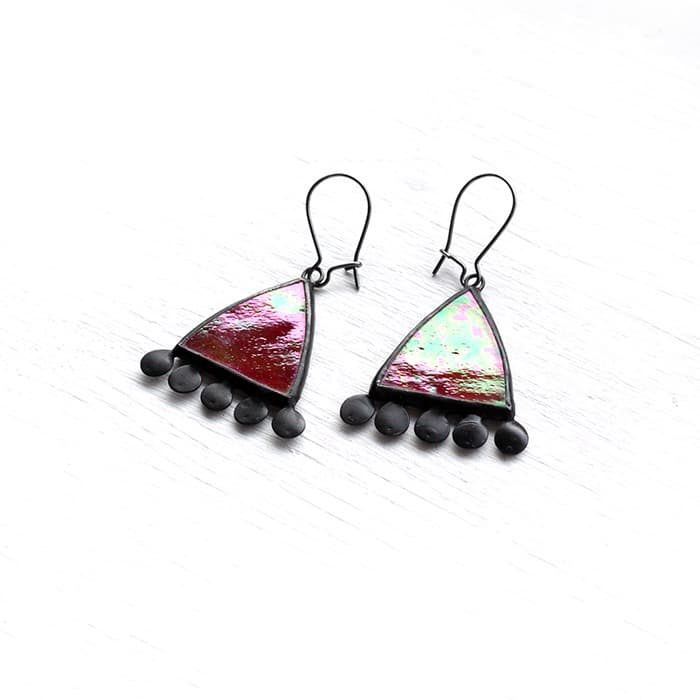 iridized-red-simple-glass-earrings-3