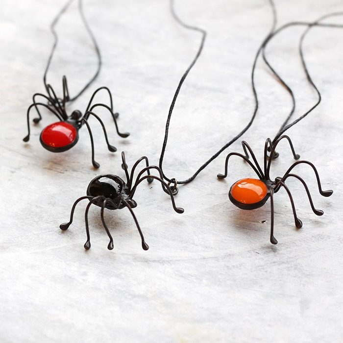 orange-pumpkin-spider-necklace-halloween-set-2