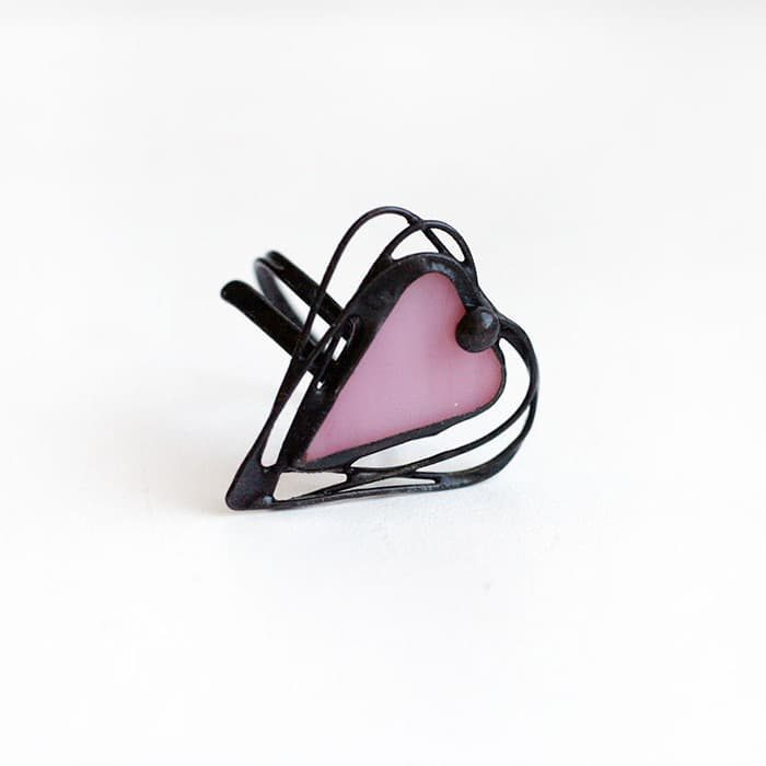 Adjustable Heart Ring