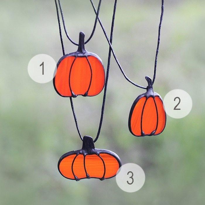 Pumpkin Necklace Ornament