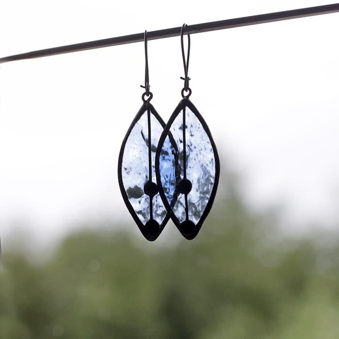 Frozen Leaves Earrings