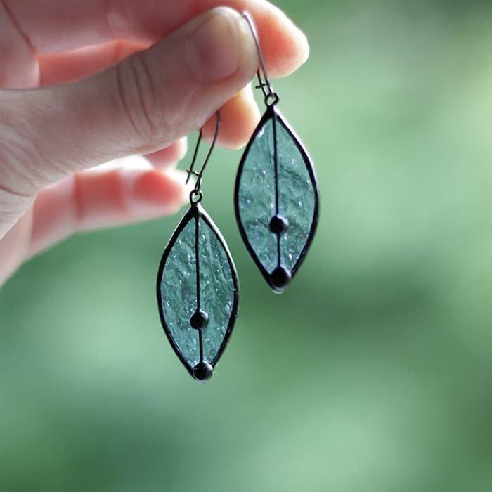 Frozen Leaves Earrings