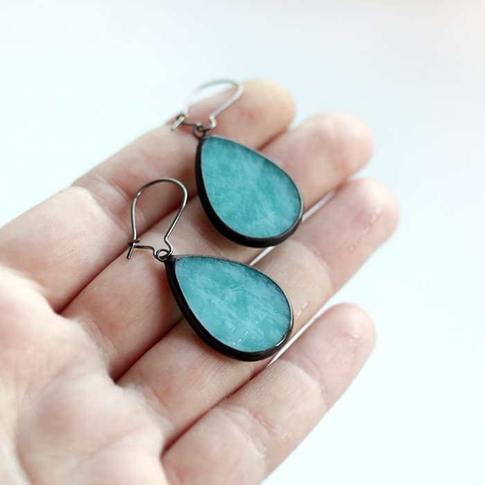 Turquoise blue drops earrings