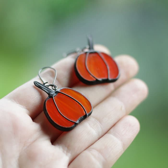 Fall pumpkins earrings